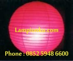 L-102 (Lampion Bulat Polos), HP: 0852 5948 6600