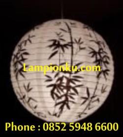 L-108 (Lampion Bulat Motif Bambu), HP: 0852 5948 6600