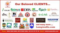 Klien LampionKu dari seluruh Indonesia