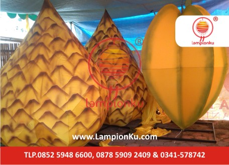 Lampion Bentuk Buah Salak dan Belimbing di Bojonegoro, LampionKu.com