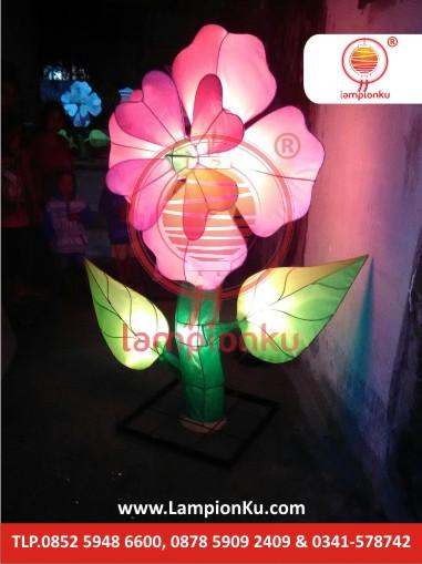 Lampion Bunga Cinta Merah di Bojonegoro, LampionKu.com