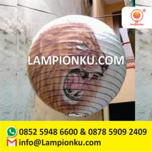 l-109-harga-lampion-gantung-murah-bulat-air-brush-motif-singa