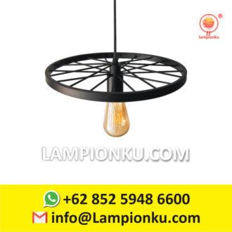 """Detail Produk """"L-670 Lampu Gantung Vintage 1 Roda ..."""
