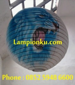 L-109 (Lampion Bulat Motif Singa), HP: 0852 5948 6600