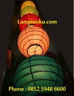 L-111 (Lampion Bola seri 5 warna), HP: 0852 5948 6600