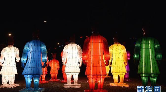 festival lampion terakota