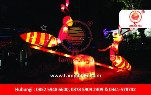 LampionKu.com - Lampion Semut Jungkat Jungkit Taman Lapangan Banteng Jakarta