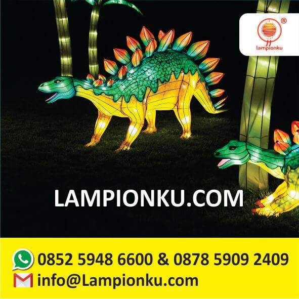 produsen-lampion-karakter-dinosaurus-di-taman-lampion-cinta-madura
